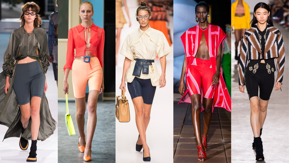 designers cosign the biker shorts trend for spring 2019