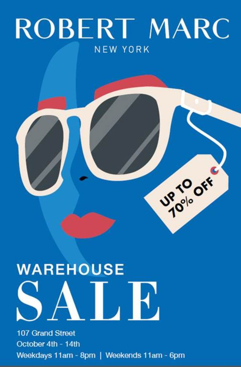 9b74541ec98 Robert Marc First Warehouse Sale - 10 4 to 10 14 - New York
