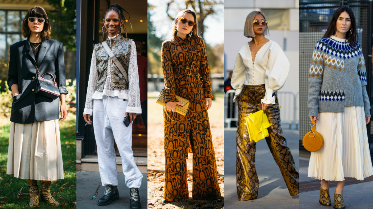 hp paris fashion week street style spring 2019 day 4 snakeskin - Snakeskin Was the Street Style MVP on Day 4 of Paris Fashion Week