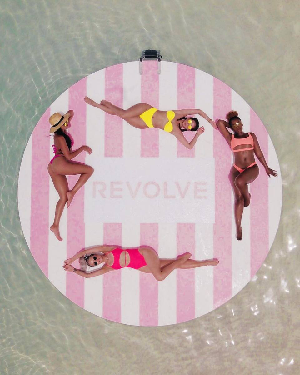 Revolve held a month-long #Revolvesummer activation in Bermuda this past July. Photo: @revolve/Instagram