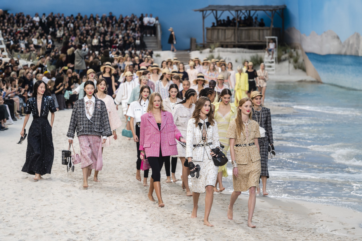 d1b82664 Life Really Is a Beach at Chanel's Spring 2019 Spectacular - Fashionista
