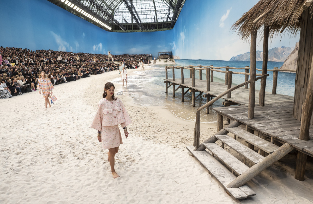 A look from the Chanel Spring 2019 collection. Photo: Imaxtree