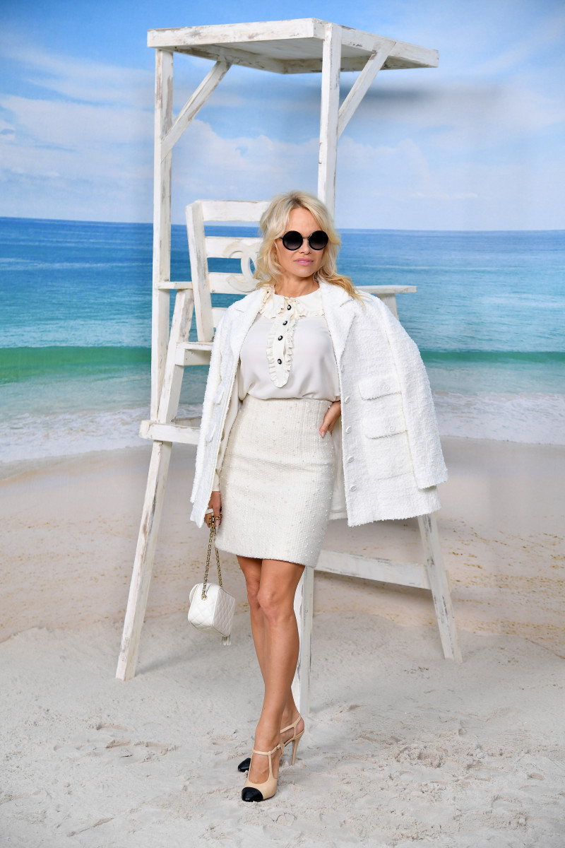 Pamela Anderson at Chanel's Spring 2019 show. Photo: Pascal Le Segretain/Getty Images