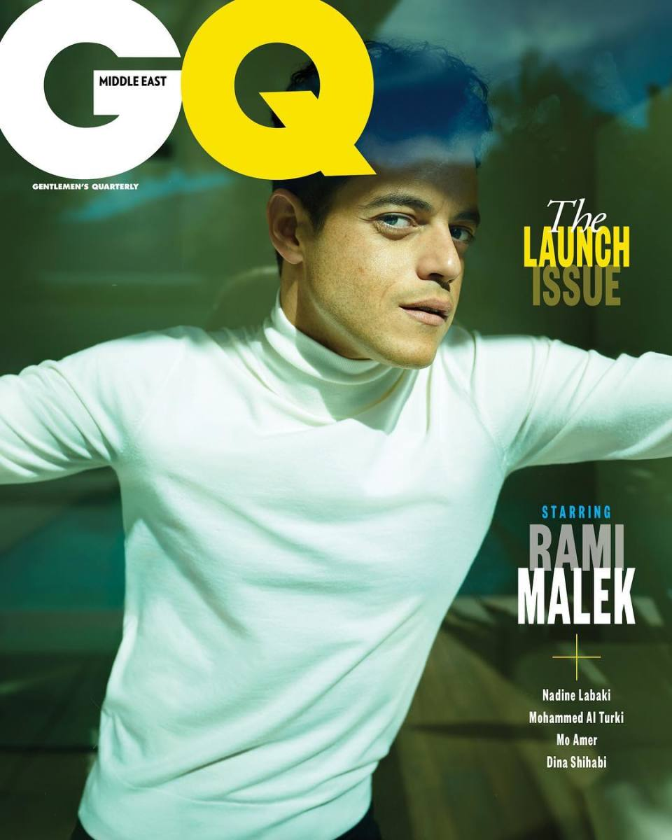 """Rami Malek on first cover of """"GQ"""" Middle East. Photo: Peggy Sirota"""