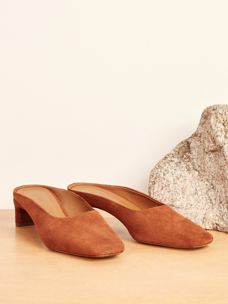 By Far x Reformation Maria Mule, $420, available here.