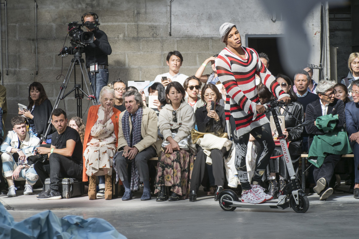 Scootin' down the runway at Vivienne Westwood. Photo: Imaxtree