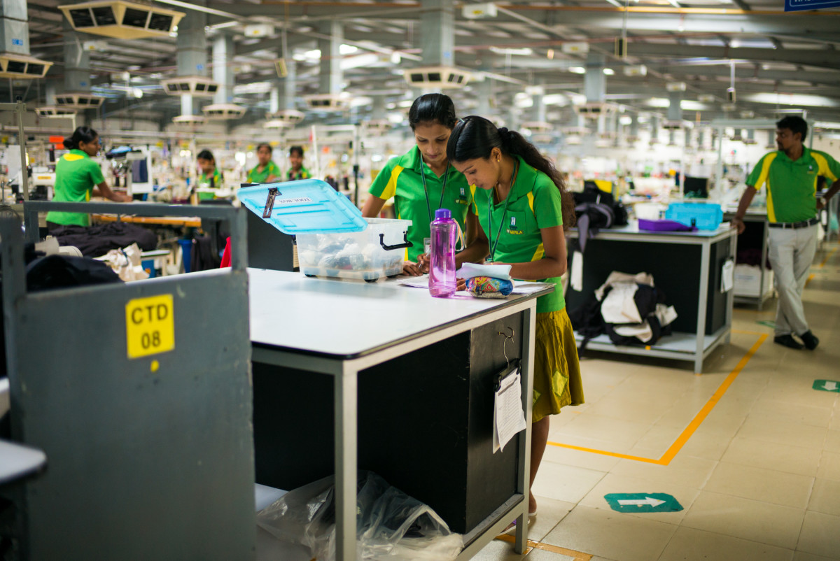 Inside the Hirdaramani Mihila Factory in Sri Lanka. Photo: Patagonia