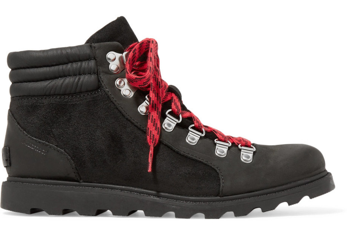 Sorel Ainsley Conquest waterproof leather and suede ankle boots, $170, available here. Photo: Net-a-Porter