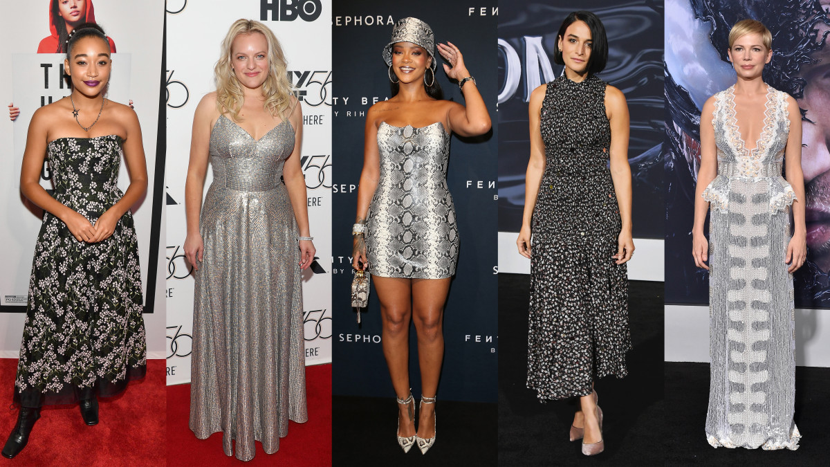 Amandla Stenberg, Elisabeth Moss, Rihanna, Jenny Slate and Michelle Williams. Photos: Getty Images