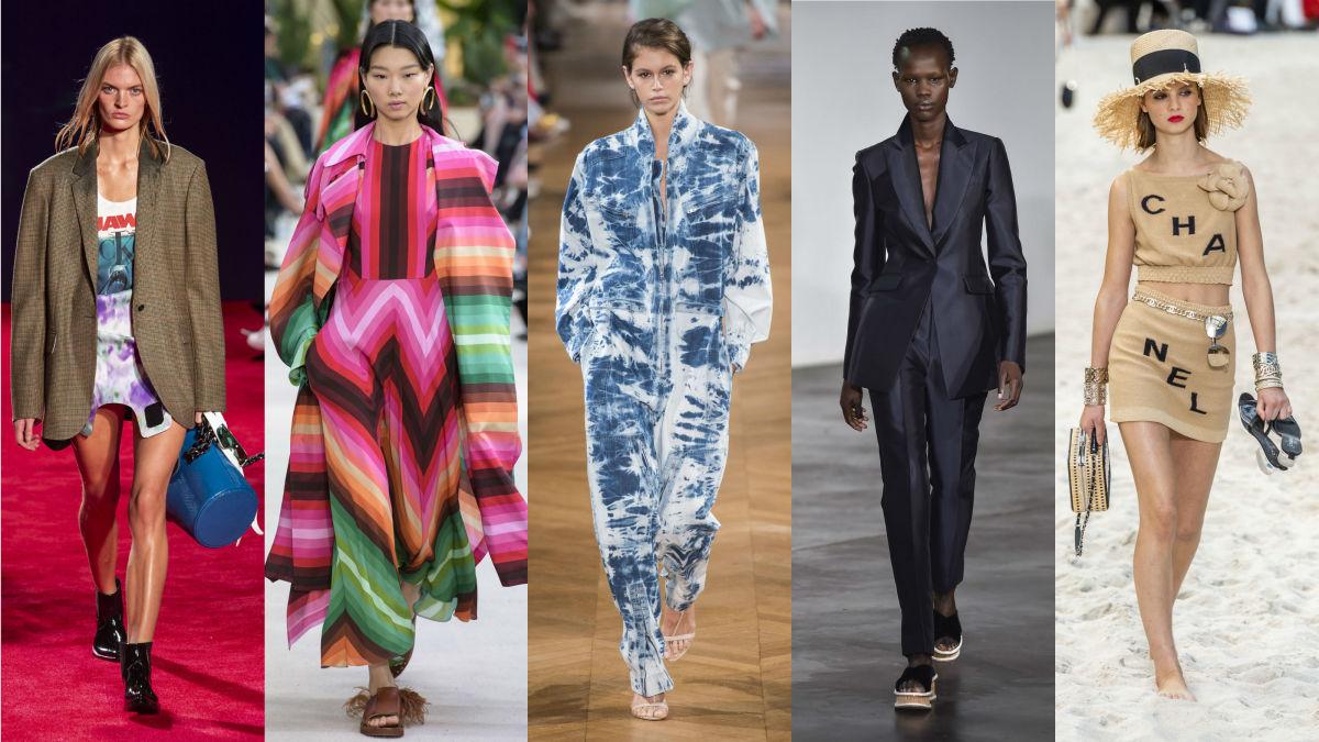 Calvin Klein, Valentino, Stella McCartney, Gabriela Hearst, Chanel. Photos: Imaxtree