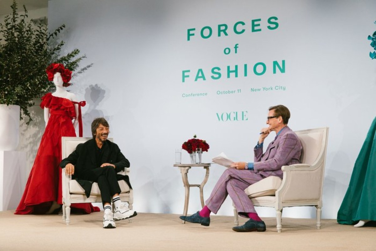 Pierpaolo Piccioli and Hamish Bowles. Photo: Corey Tenold for Vogue.com
