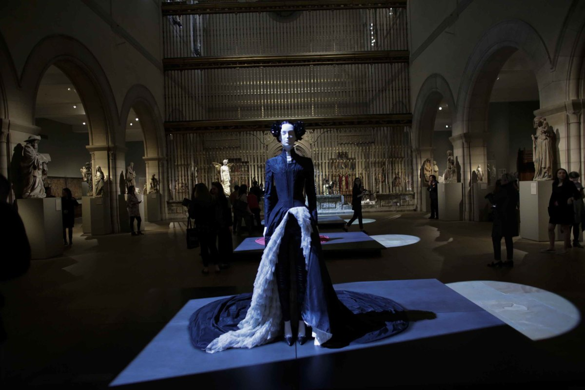 "A Givenchy dress on display at The Met's ""Heavenly Bodies: Fashion and the Catholic Imagination"" Costume Institute exhibit. Photo: Kena Betancur/AFP/Getty Images"