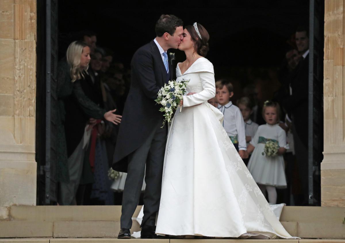 Princess Eugenie Of York And Her Husband Jack Brooksbank At Windsor Palace Photo Steve