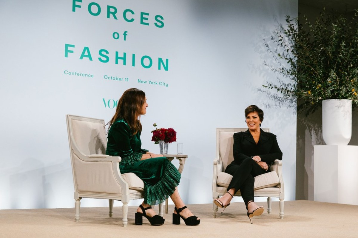 Sally Singer with Kris Jenner at Vogue's Forces of Fashion. Photo: Corey Tenold/Vogue