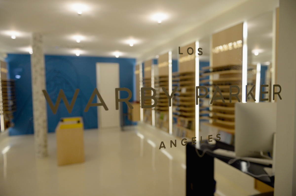 Warby Parker's store in The Standard, Hollywood in Los Angeles. Photo: Michael Buckner/Getty Images for Warby Parker