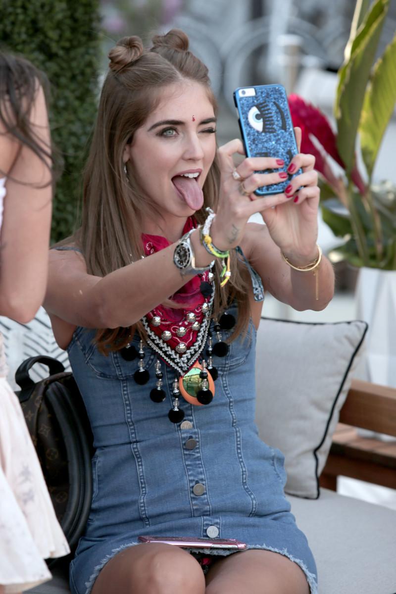 Chiara Ferragni at a Revolve x Coachella event in 2016. Photo: Ari Perilstein/Getty Images