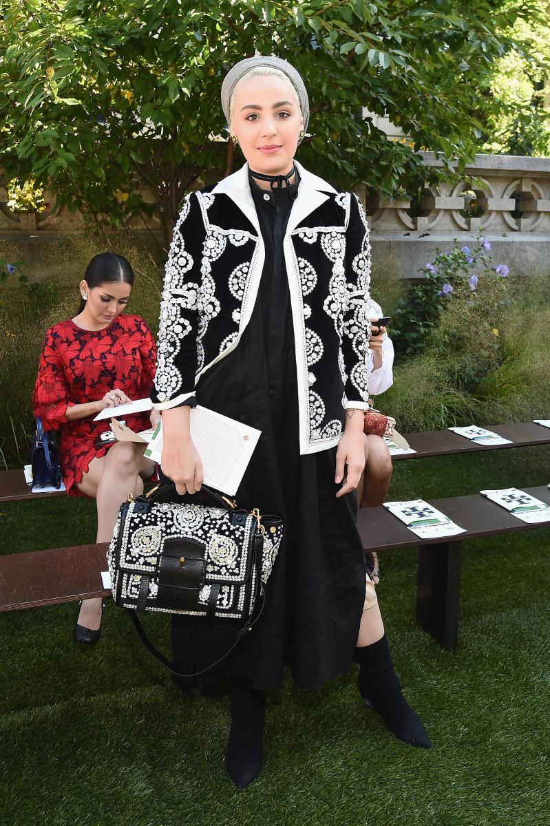 Ascia al Faraj at New York Fashion Week. Photo: Ilya S. Savenok/Getty Images