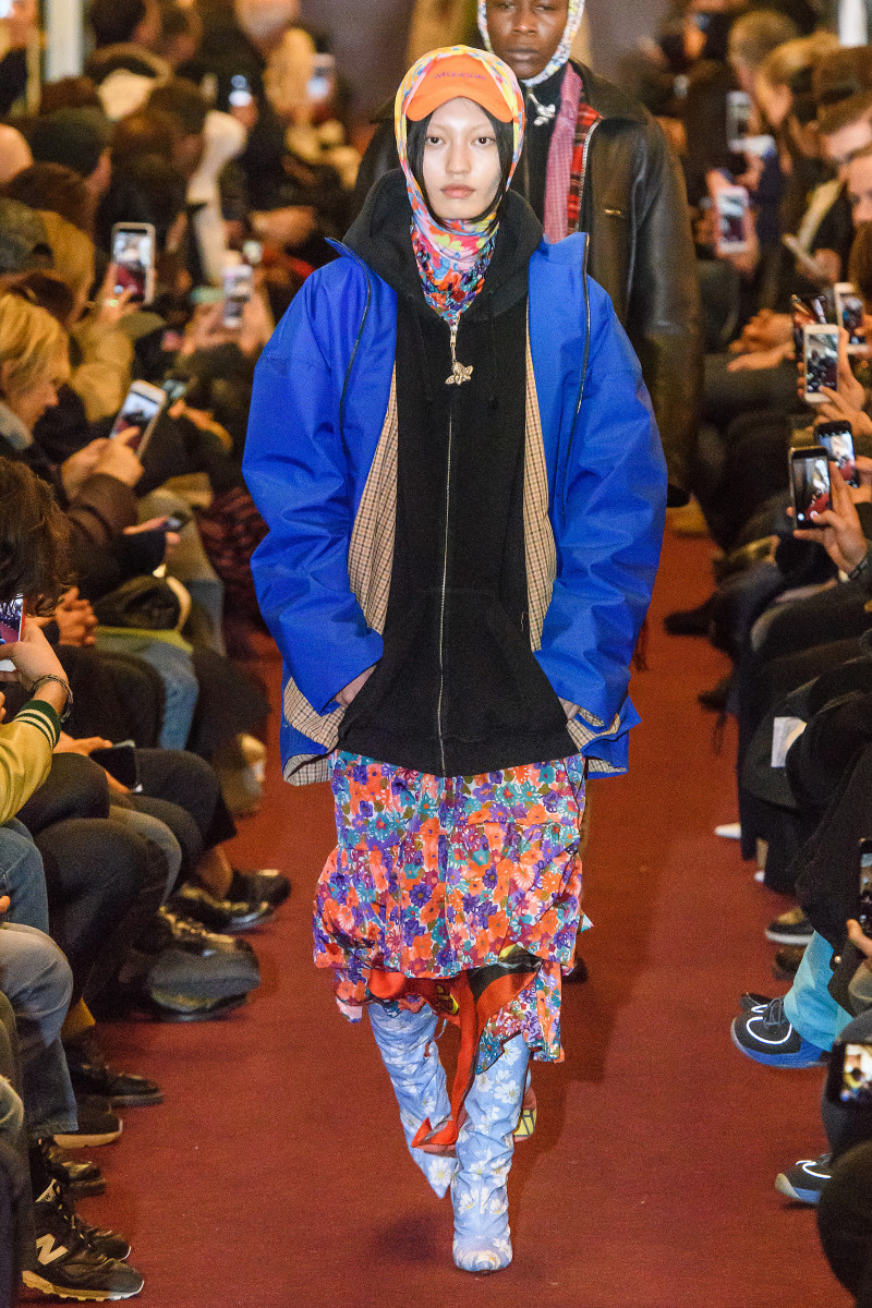 A look from Vetements Fall 2018 collection. Photo: Imaxtree