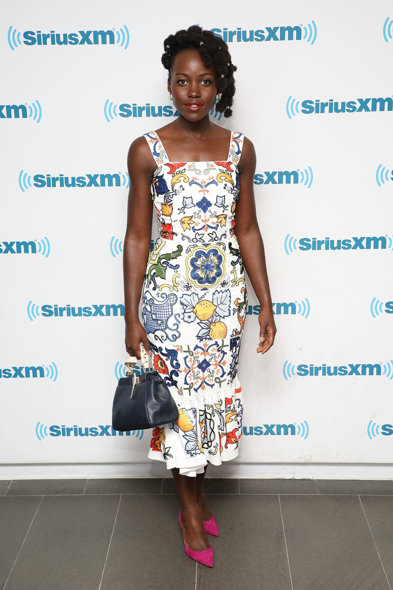 Lupita Nyong'o in Dolce & Gabbana at SiriusXM Studios on May 15 in New York City. Photo: Taylor Hill/Getty Images