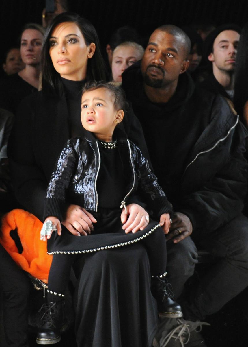 Kim Kardashian West, Kanye West and North West. Photo: Craig Barritt/Getty Images