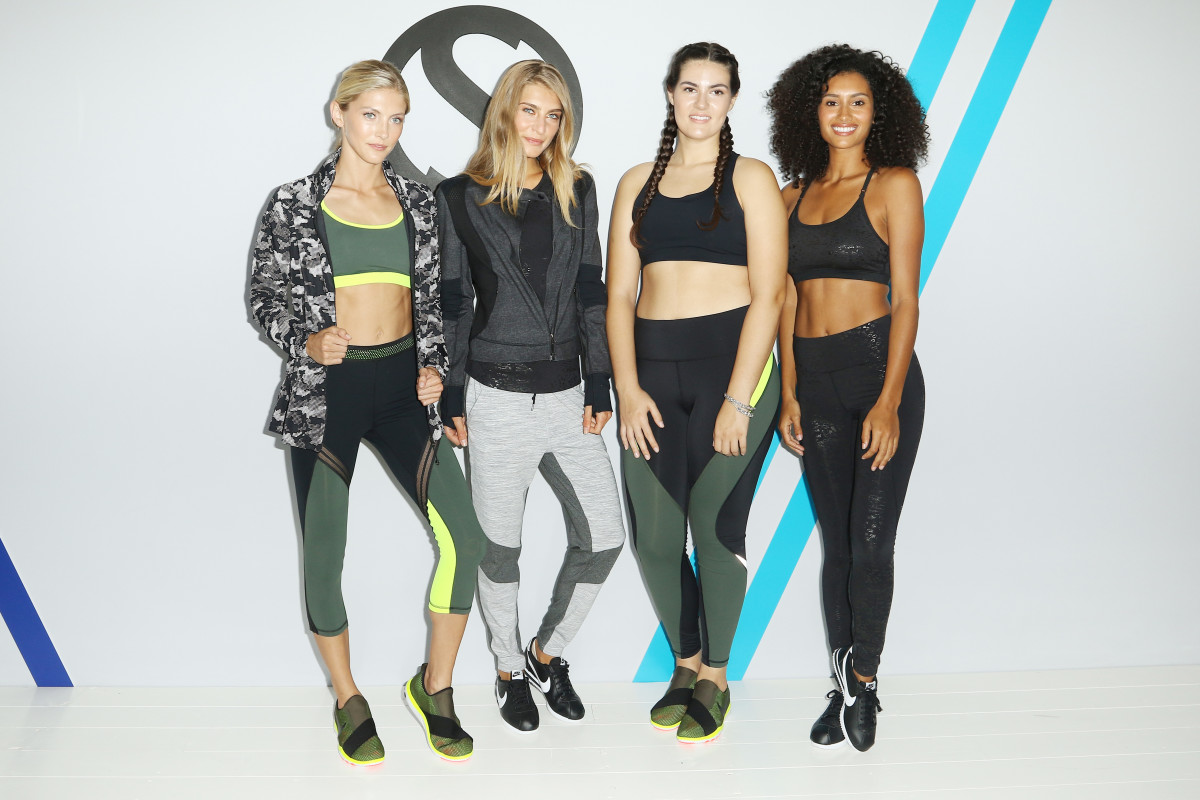Fitness models at Shape Activewear's fashion presentation in Miami. Photo: John Parra/Getty Images