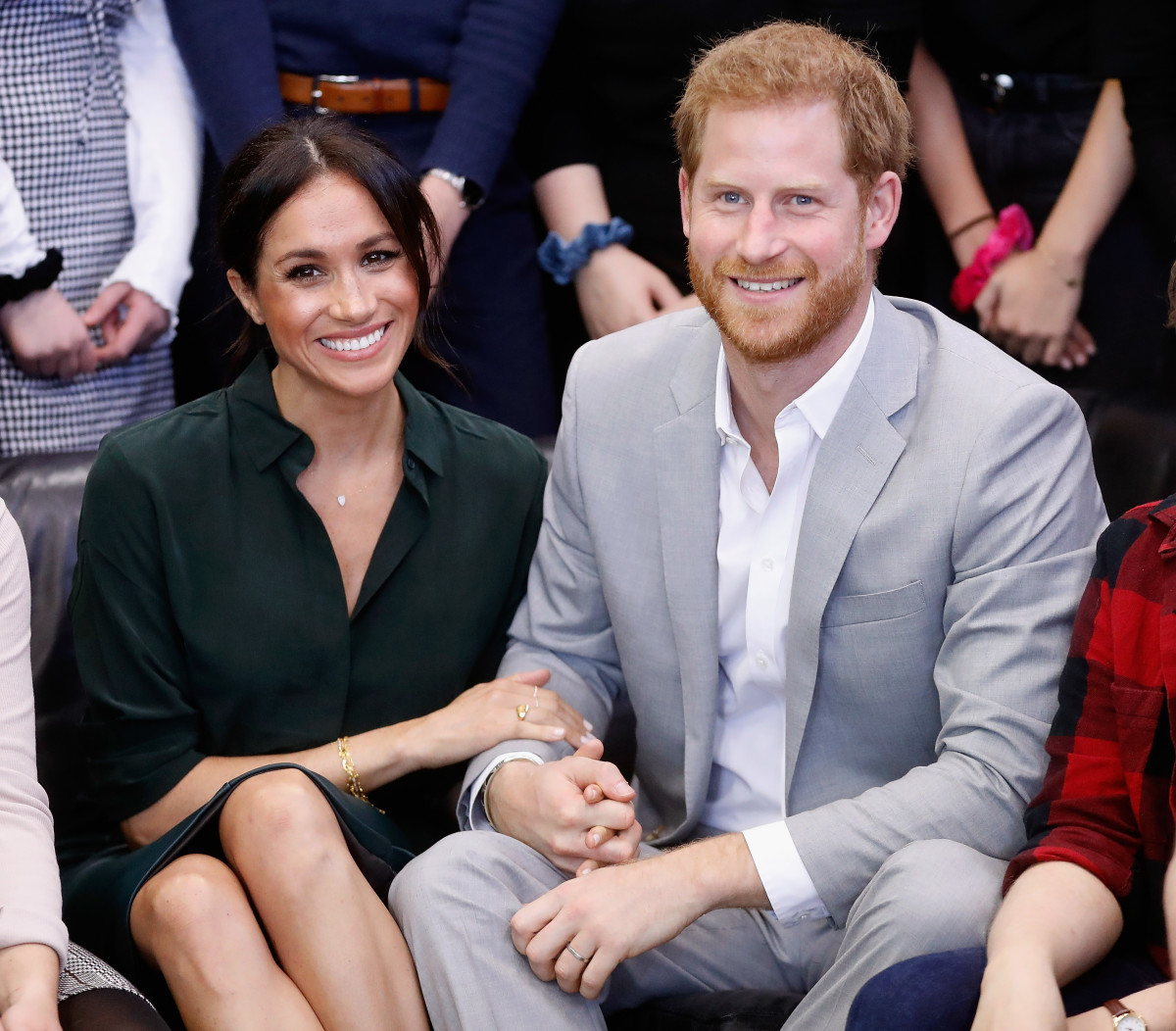 Meghan Markle, Duchess of Sussex and Prince Harry, Duke of Sussex, during a visit to the Peacehaven, Sussex on Oct. 3. Photo: Chris Jackson/Getty Images