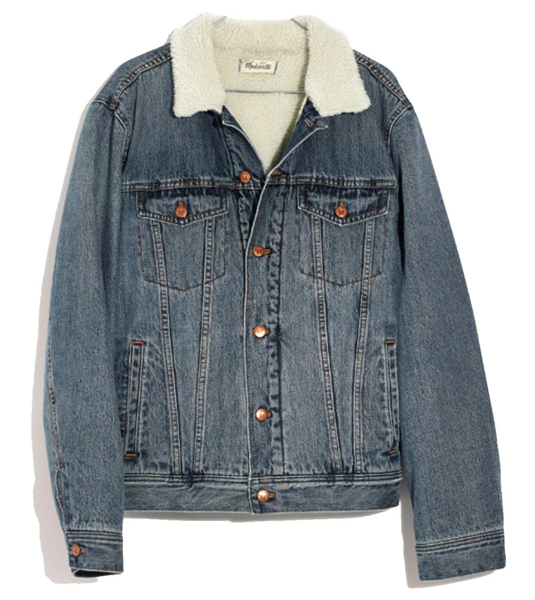 Madewell Men's Sherpa Classic Jean Jacket, $175, available here.
