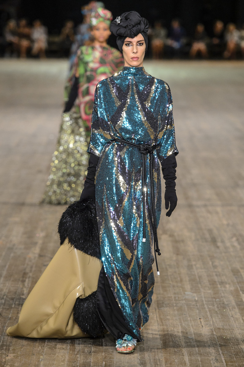 bc594d39 A look from Marc Jacobs Spring 2018 collection. Photo: Imaxtree