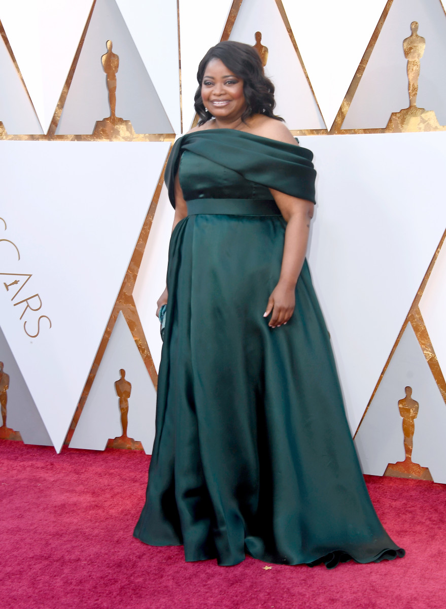 Octavia Spencer in Brandon Maxwell at the 2018 Academy Awards. Photo: Frazer Harrison/Getty Images