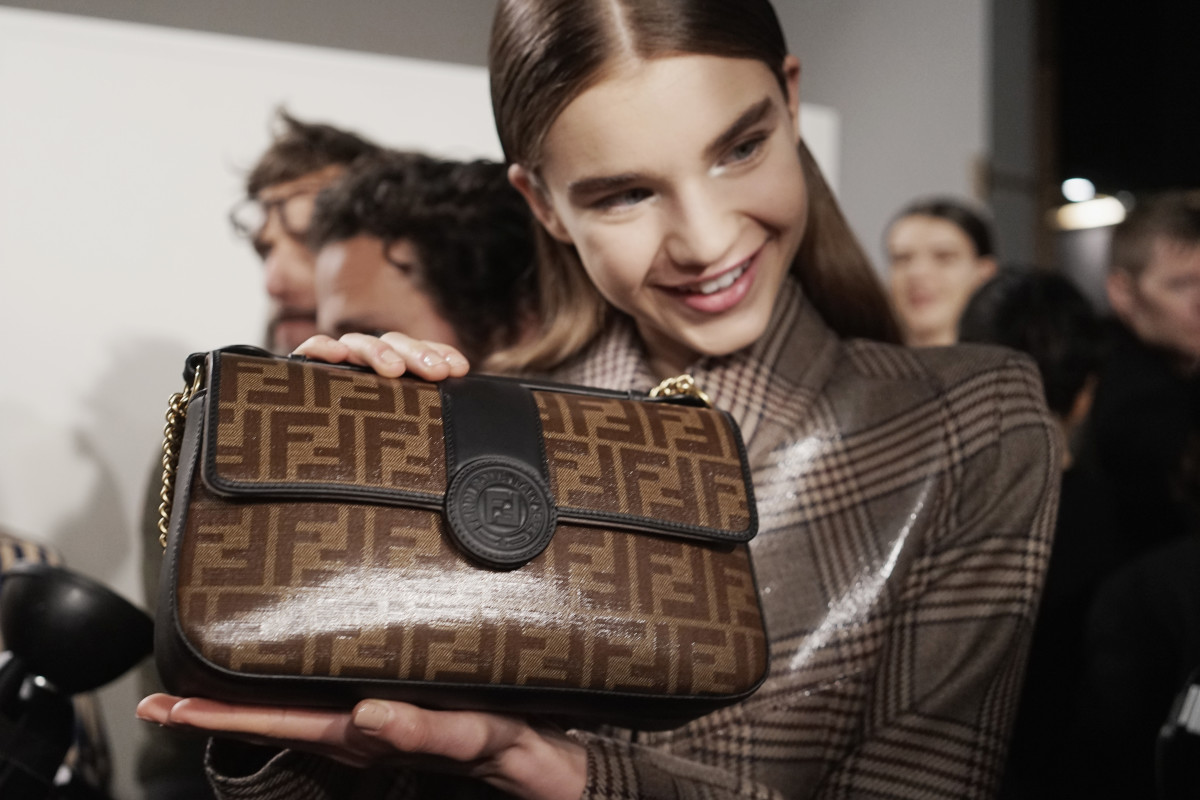 4dd8cfd1 Hey, Quick Question: Is Fendi the New Frontrunner in the Luxury Logomania  Race? - Fashionista