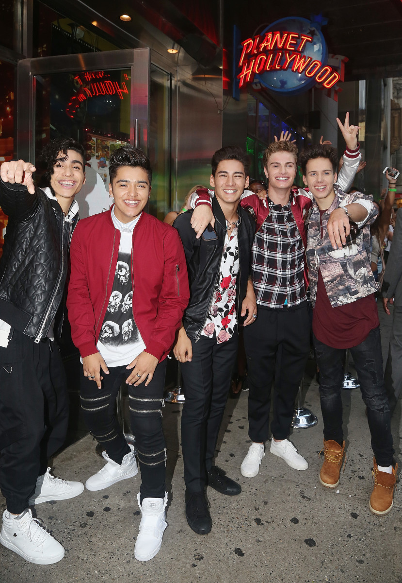 """""""In Real Life,"""" the grand-prize winner of ABC's """"Boy Band"""" visit Planet Hollywood Times Square. Photo: Bruce Glikas/Bruce Glikas/WireImage"""