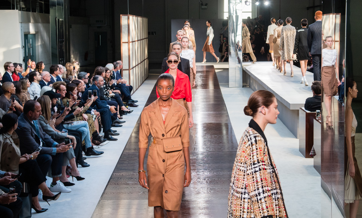 7b7e220489a8 Looks from Burberry s Spring 2019 collection. Photo  Samir Hussein WireImage