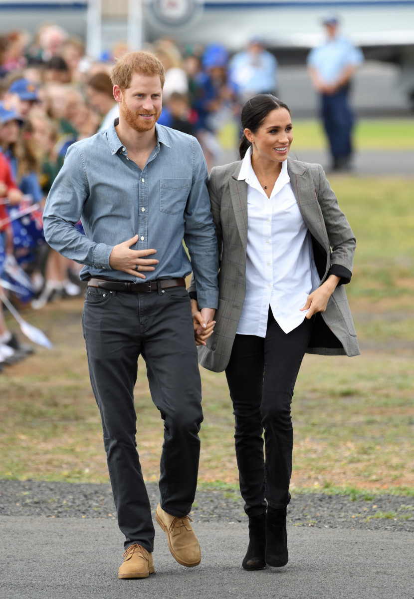 Duchess of Sussex Meghan Markle in Outland Denim with Duke of Sussex Prince Harry in Dubbo, Australia. Photo: Karwai Tang/WireImage
