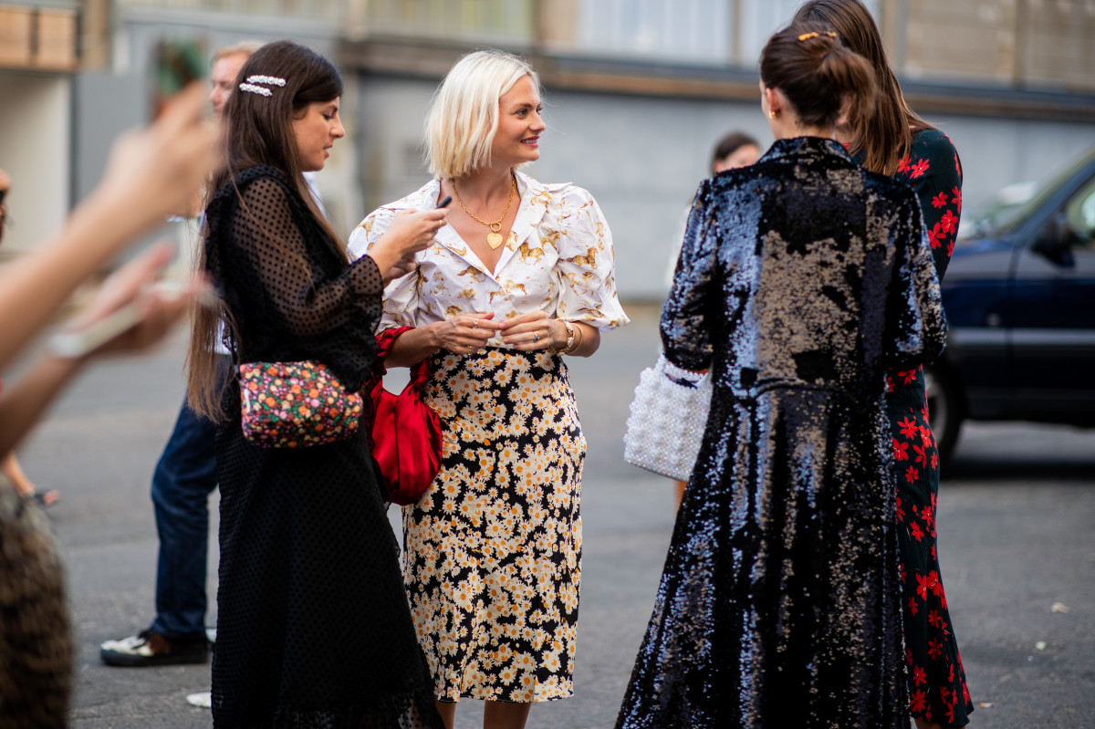 Showgoers during Copenhagen Fashion Week. Photo: Christian Vierig/Getty Images