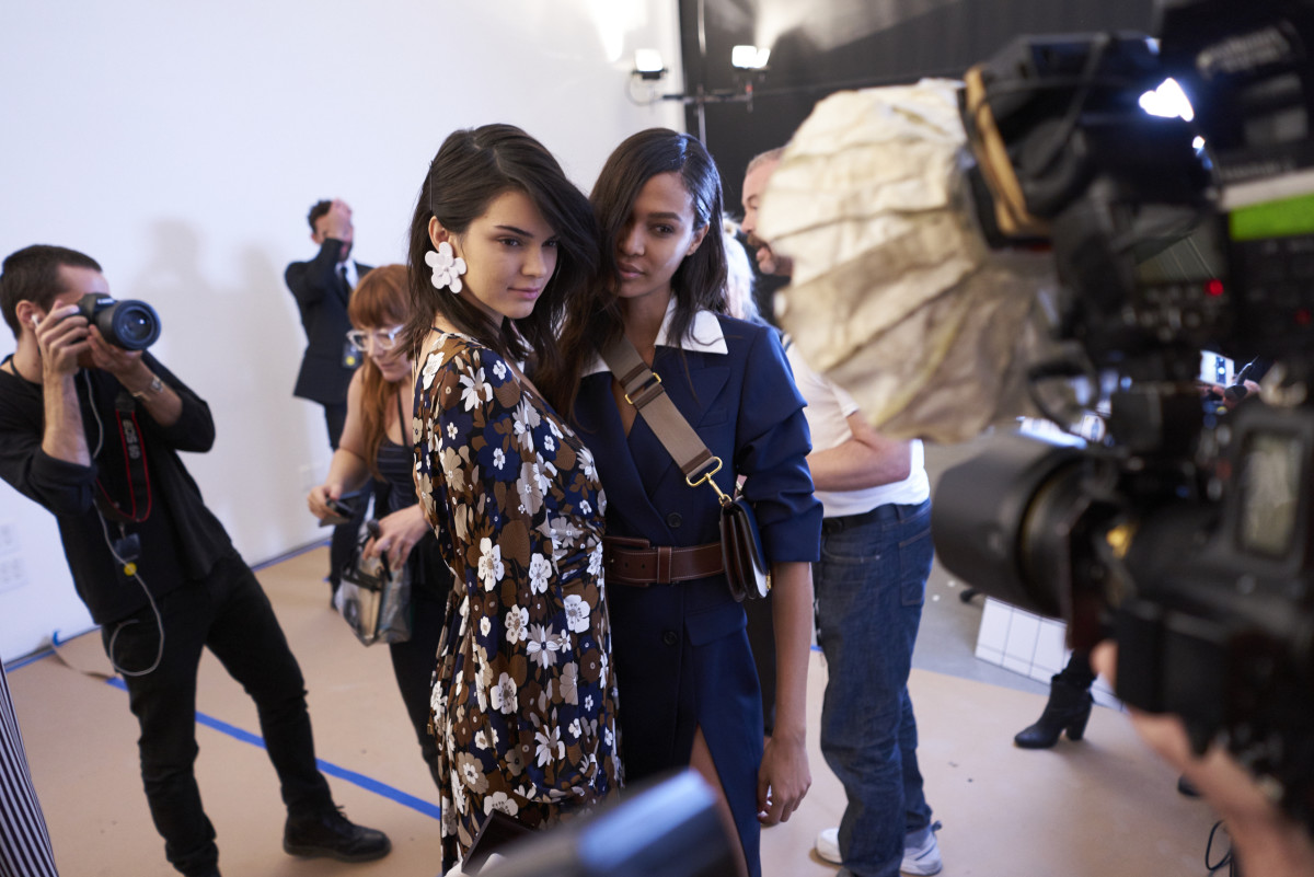 Backstage at the Michael Kors Spring 2017 show. Photo: Antonello Trio/Getty Images