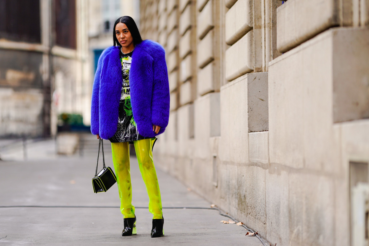 Aleali May on the street in Paris. Photo:  Edward Berthelot/Getty Images