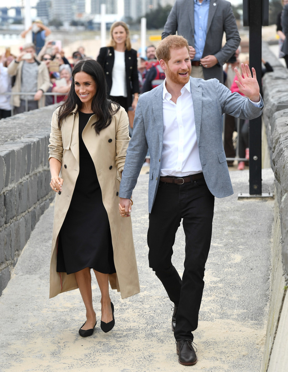 The Duchess of Sussex in Rothy's shoes in Melbourne Beach, Australia. Photo: Karwai Tang/WireImage