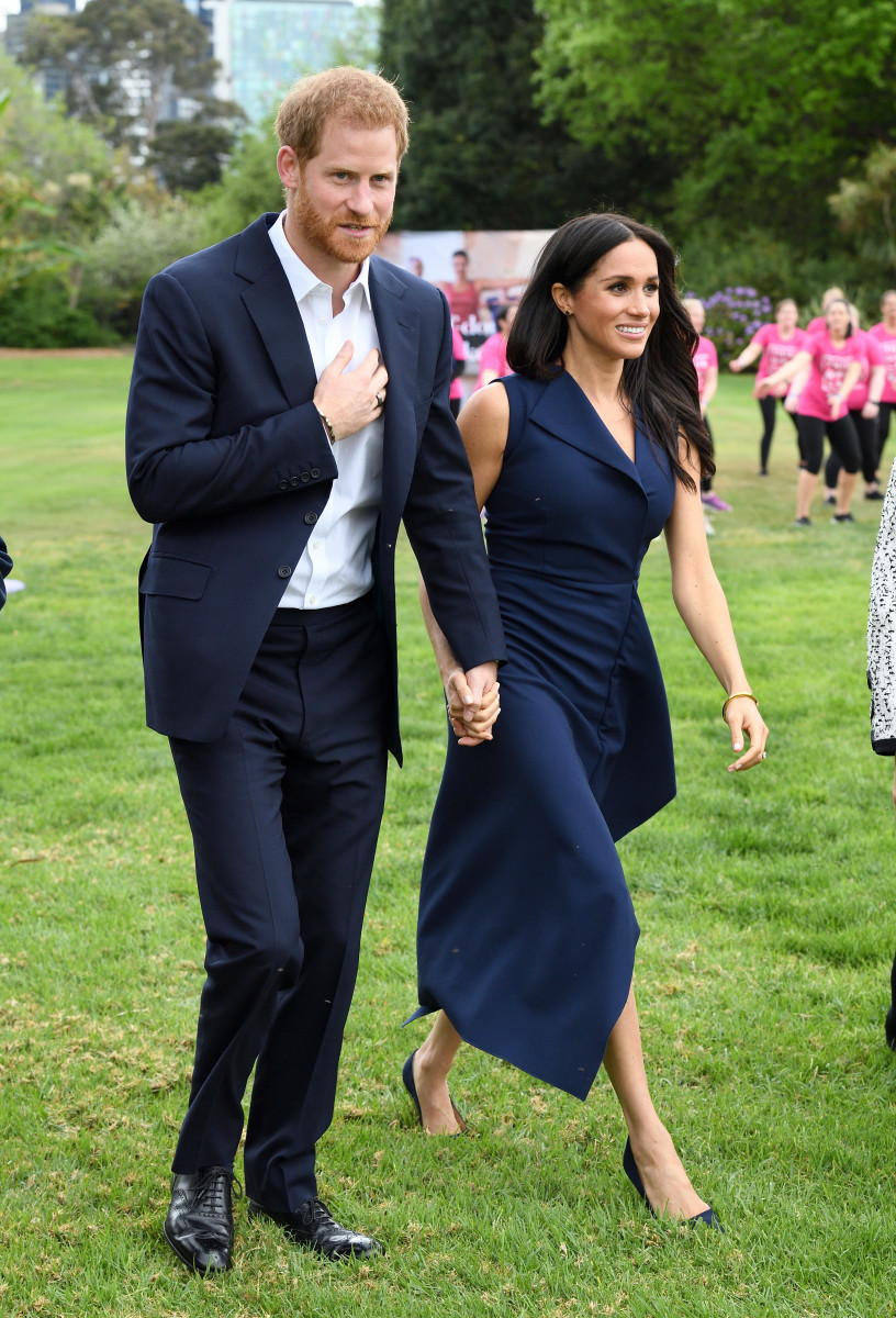 Duke of Sussex Prince Harry and Duchess of Sussex Meghan Markle attend the This Girl Can campaign at Government House on Thursday in Melbourne. Photo: Karwai Tang/WireImage