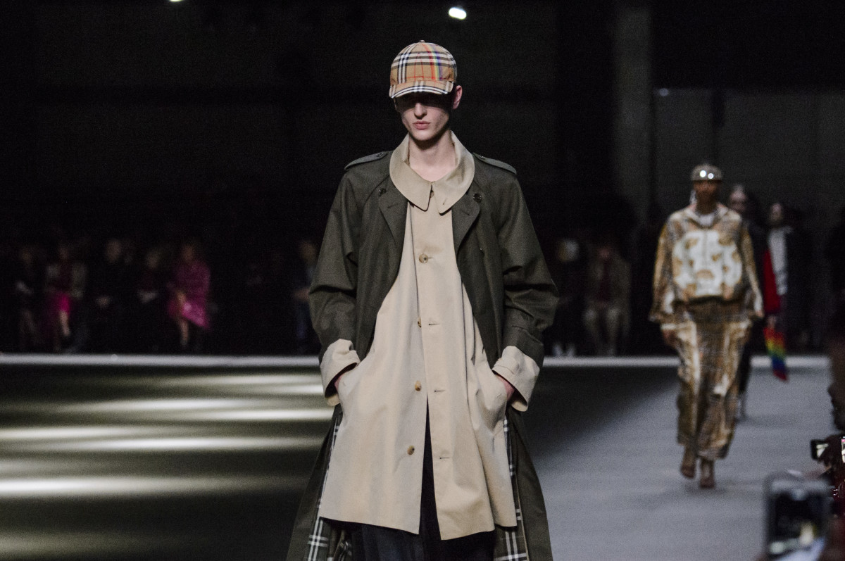 Looks from Burberry's February 2018 collection. Photo: Imaxtree