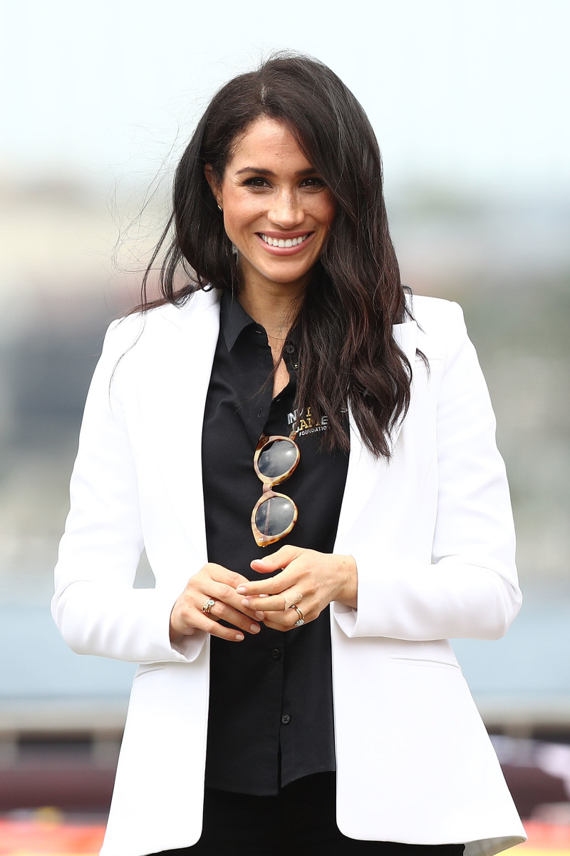 Duchess of Sussex Meghan Markle at the Jaguar Land Rover Drive Day at Cockatoo Island in Sydney, Australia. Photo: Mark Metcalfe/Getty Images for the Invictus Games Foundation