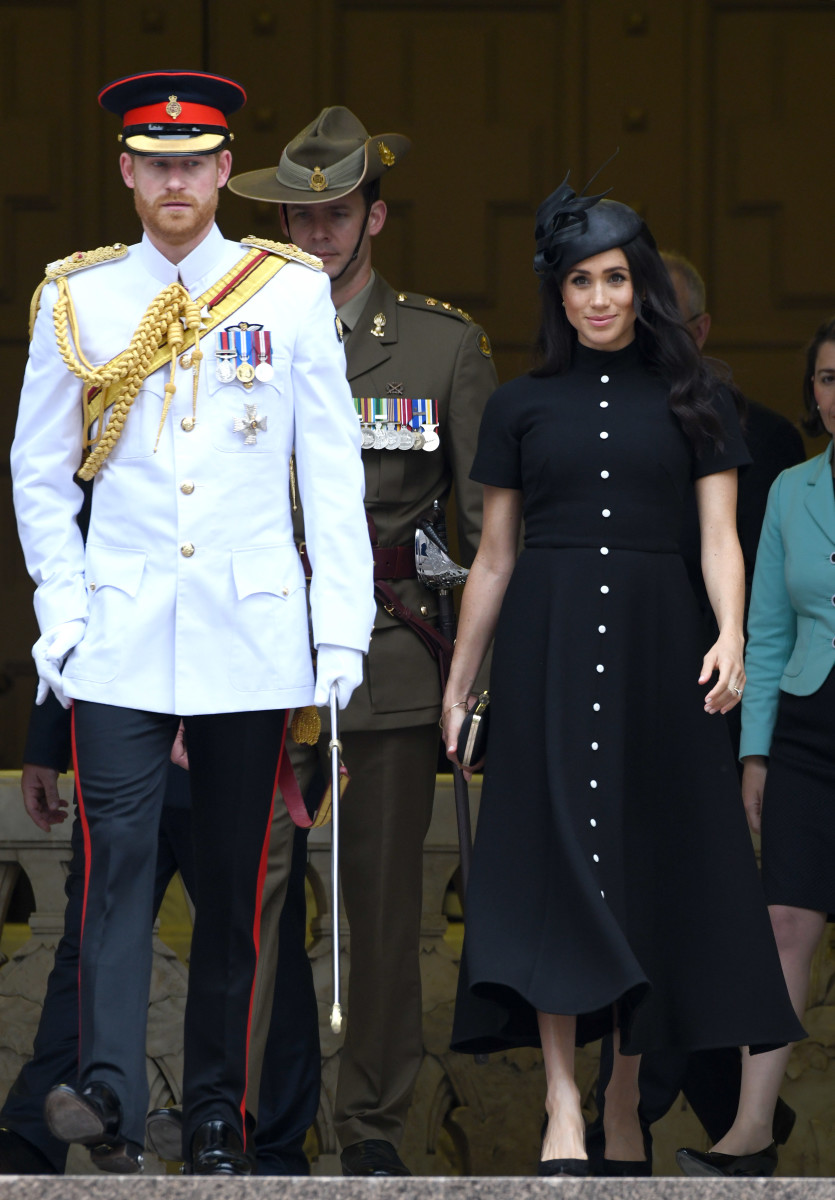 Duke of Sussex Prince Harry and Duchess of Sussex Meghan Markle at the official opening of the extension of the ANZAC Memorial in Hyde Park in Sydney, Australia. Photo: Karwai Tang/WireImage