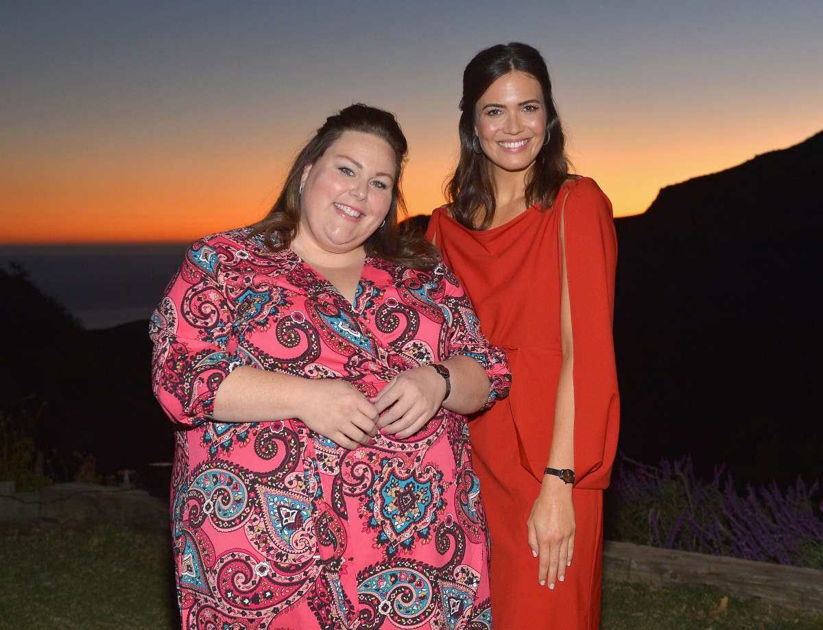 Chrissy Metz and Mandy Moore at the Mandy Moore x Fossil dinner at One Gun Ranch in Malibu, California. Photo: Courtesy of Fossil/Donato Sardella/Getty Images for Fossil