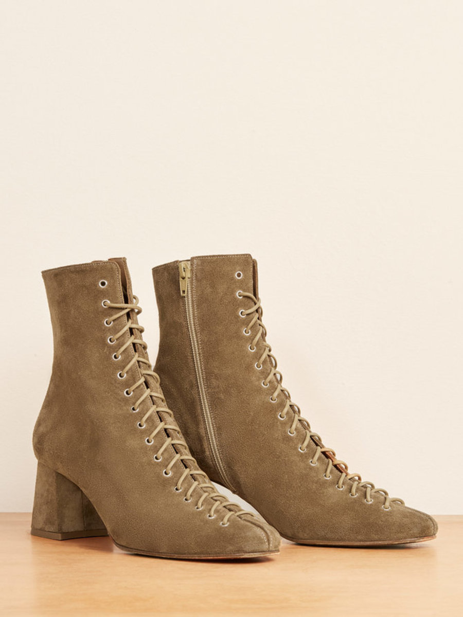By Far x Reformation Becca Boot, $530, available here.