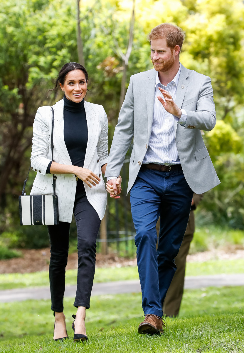 Meghan Markle and Prince Harry at the Invictus Games in Sydney. Photo by Chris Jackson/Getty Images for the Invictus Games Foundation