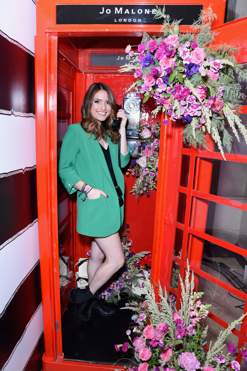 Jo Malone's phone booth activation. Photo: Presley Ann/Getty Images
