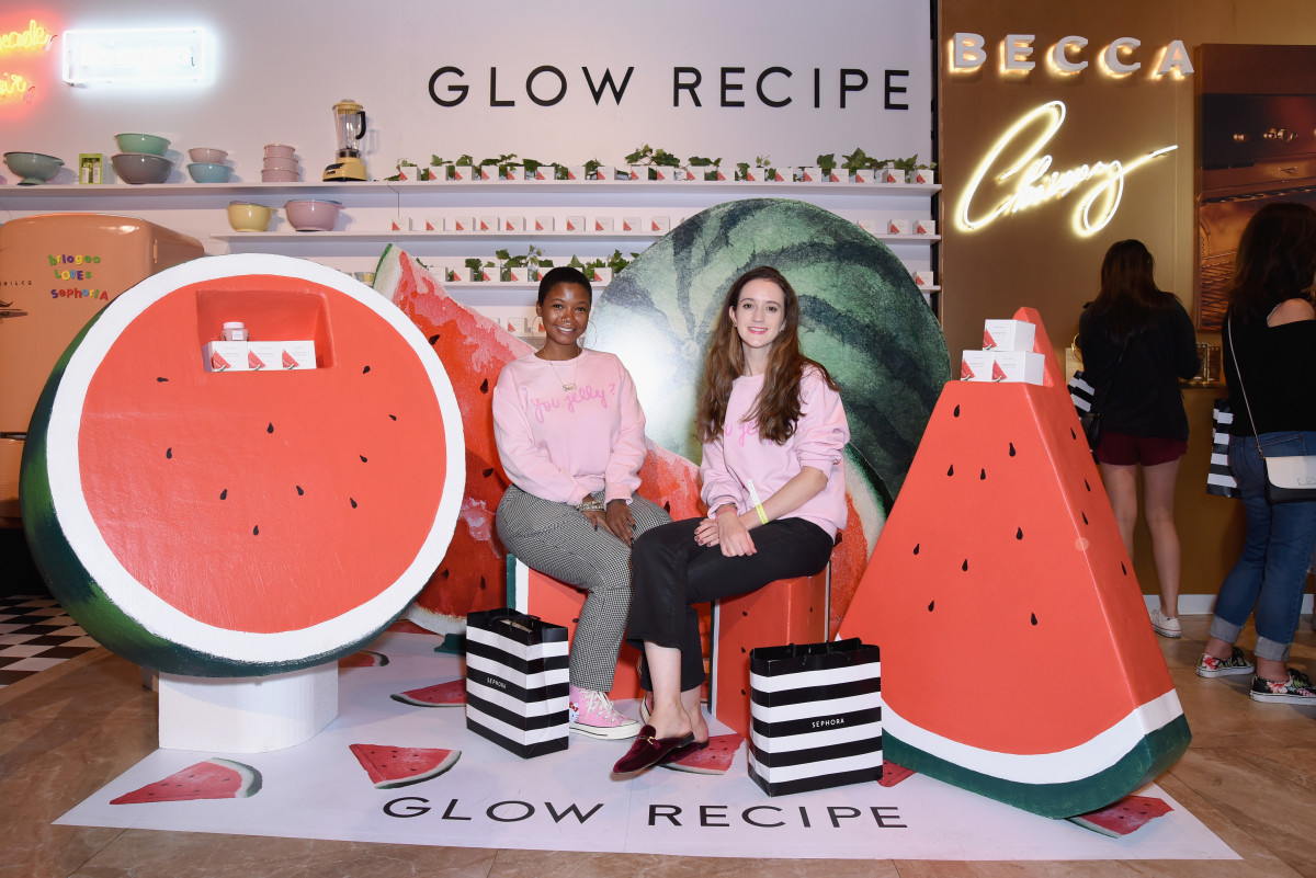 Glow Recipe's activation.Photo: Presley Ann/Getty Images