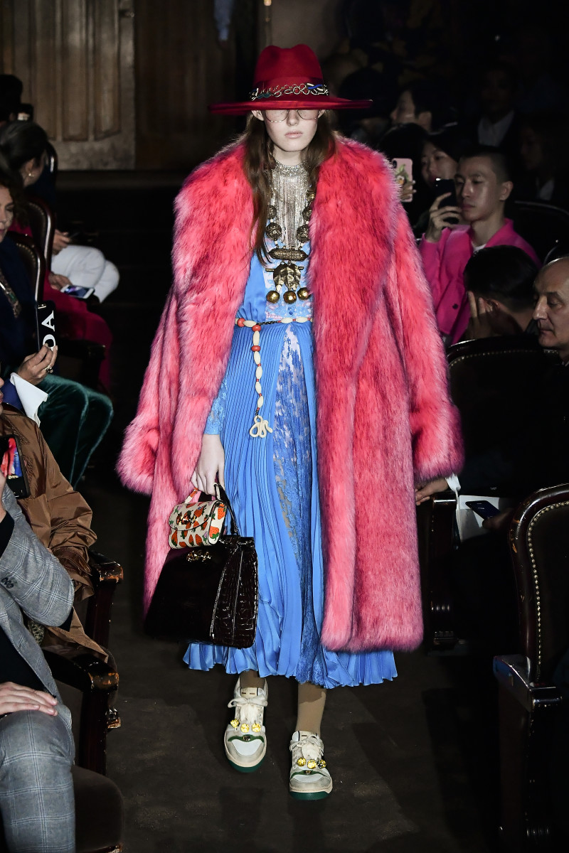 A look from Gucci's Spring 2019 collection. Photo: Dominique Charriau/Getty Images for Gucci