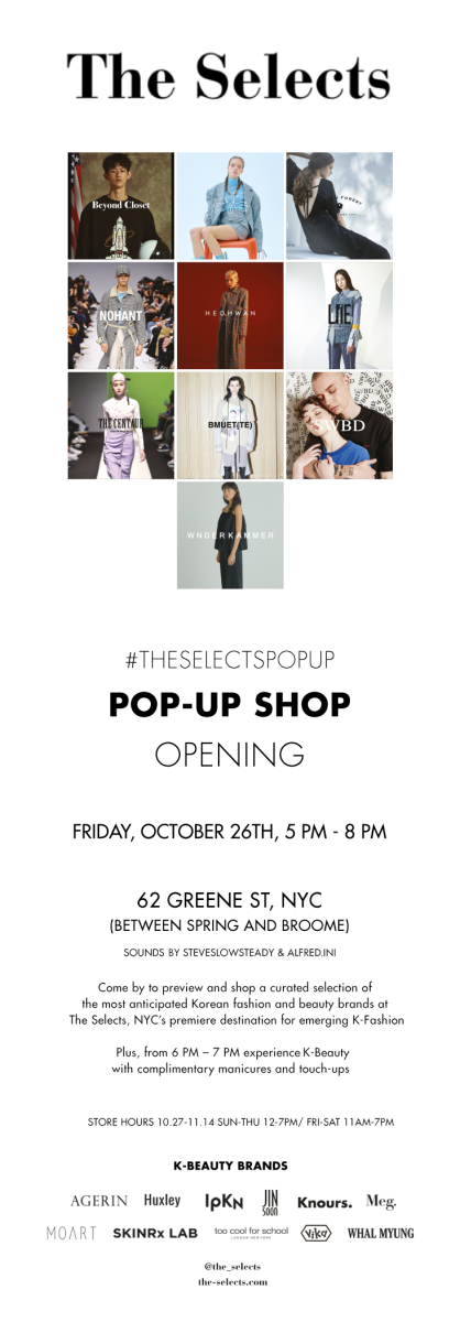5717ab7c71 The Selects Pop-Up Shop Opening - October 26th - 5PM to 8PM ...