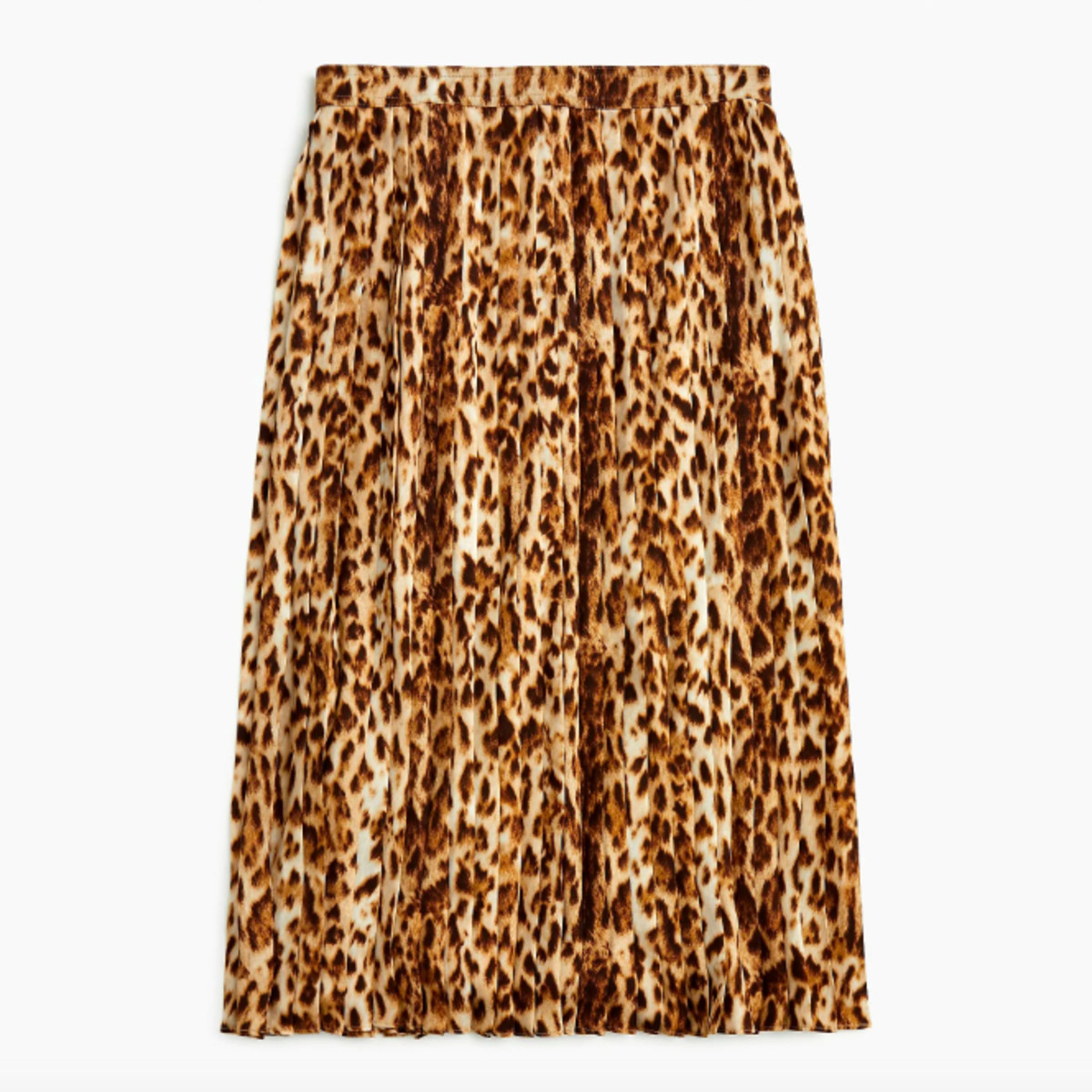 J.Crew pleated leopard midi skirt, $118, available here.