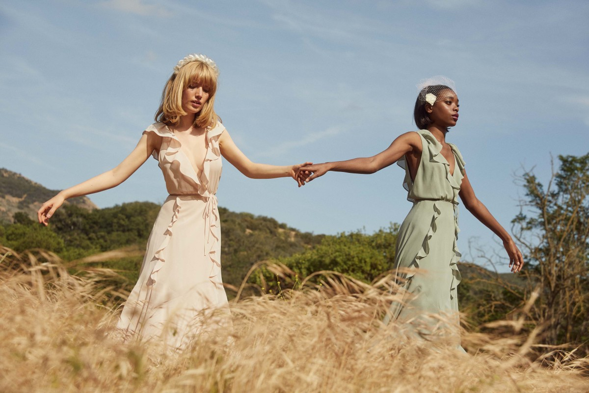 Reformation bridesmaid dresses. Photo: Courtesy of Reformation